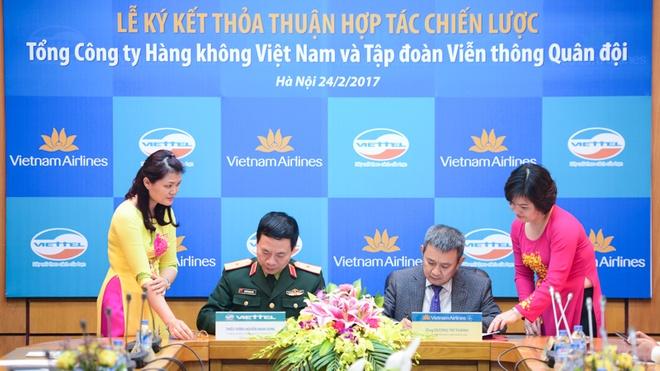Vietnam Airlines hop tac voi Viettel anh 1