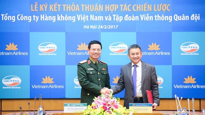 Vietnam Airlines hop tac voi Viettel anh 2