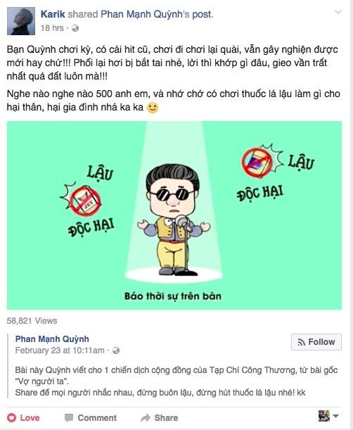 Fan hao hung 'Vo nguoi ta' phien ban khong hut thuoc la lau hinh anh 2