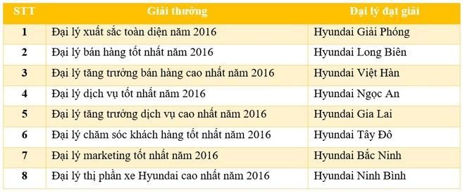 Hyundai Thanh Cong vinh danh dai ly tieu bieu 2016 hinh anh 4