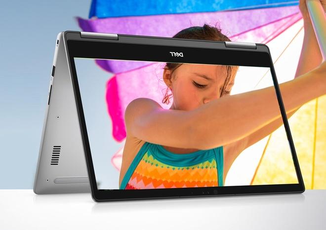 Laptop Dell Inspiron 7373 so huu man hinh cam ung xoay 360 do hinh anh