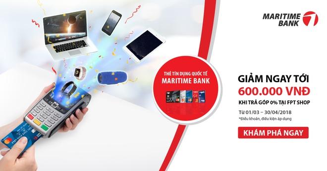 Giam 4% khi mua tra gop tai FPT Shop bang Maritime Bank Mastercard hinh anh 1