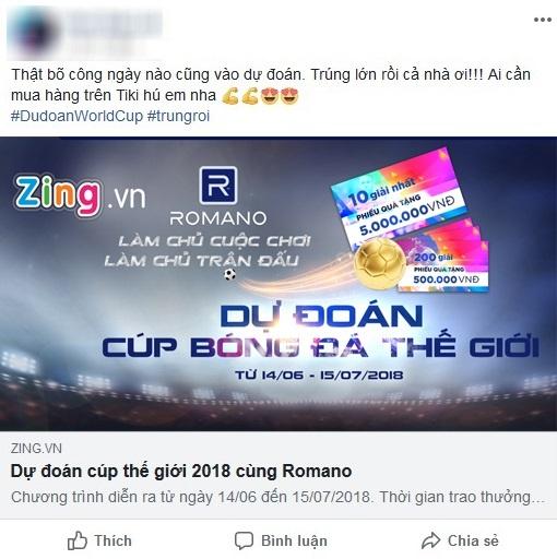 Hon 15.000 doc gia Zing.vn tham gia du doan ket qua World Cup hinh anh 1