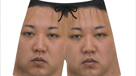 Trang phuc boi in hinh Kim Jong Un va lanh dao cac nuoc gay tranh cai hinh anh