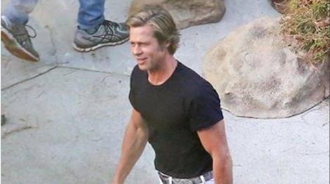 Brad Pitt vui ve tren phim truong sau thoa thuan nuoi con voi vo cu hinh anh