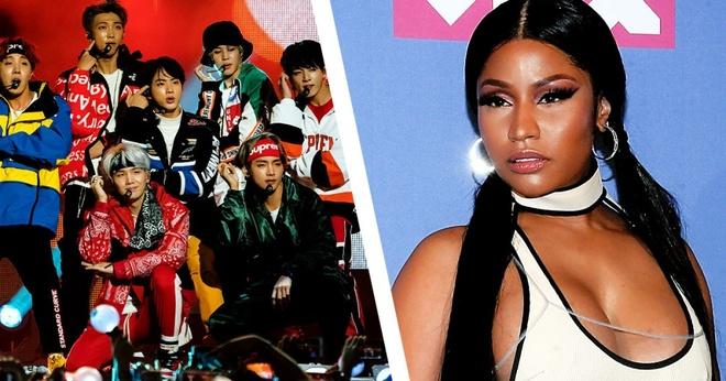 Hop tac cung Nicki Minaj, BTS lot top cao tren BXH Billboard hinh anh