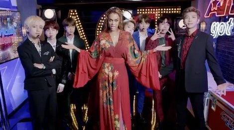 Tyra Banks hao hung nhay vu dao 'IDOL' cung BTS o America's Got Talent hinh anh