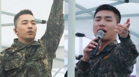 Tae Yang, Dae Sung (Big Bang) dien hit dinh dam trong le hoi quan doi hinh anh