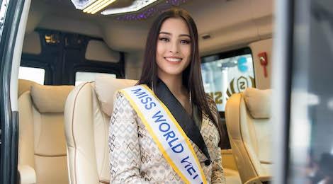 Hoa hau Tieu Vy rang ro ngay len duong du Miss World 2018 hinh anh