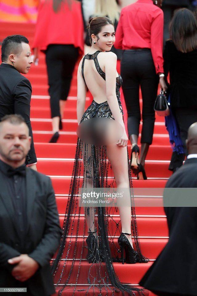 Hang loat bao Han chi trich Ngoc Trinh mac phan cam qua da o Cannes hinh anh 2