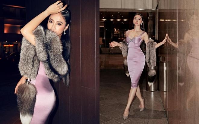Angela Phương Trinh mặc gợi cảm, khoác áo lông thú gây tranh cãi