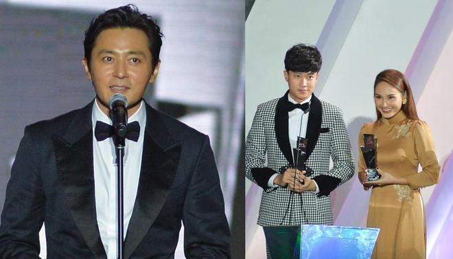 Jang Dong Gun trao giai cho Bich Phuong, Bao Thanh hinh anh