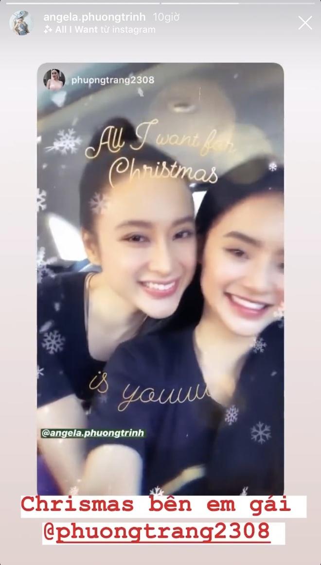 Angela Phuong Trinh di chua, Chi Pu tu tap hoi ban than dem Noel hinh anh 2 null