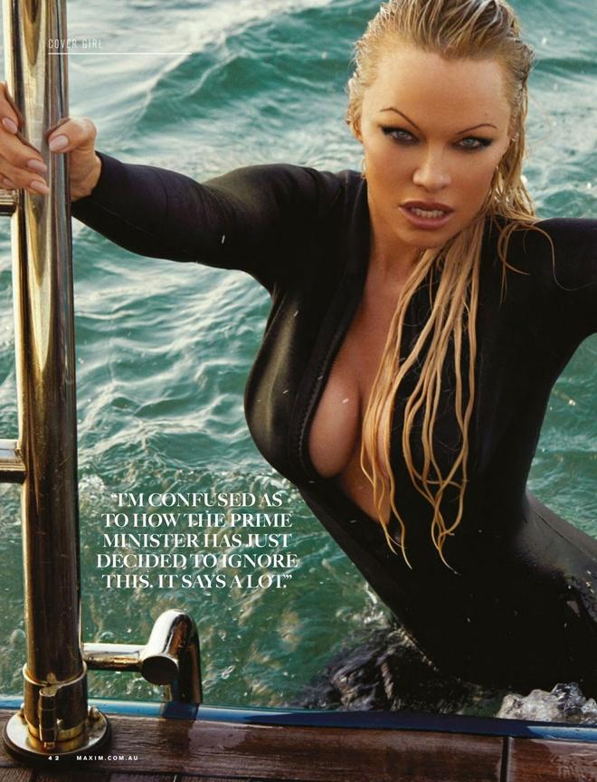 'Bom sex' Pamela Anderson ly hon chong sau 12 ngay lam le cuoi hinh anh 1 pamela3.jpg