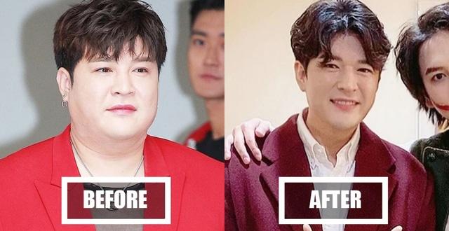 Ngoại hình của Shin Dong có sự khác biệt lớn sau khi giảm hơn 30 kg.