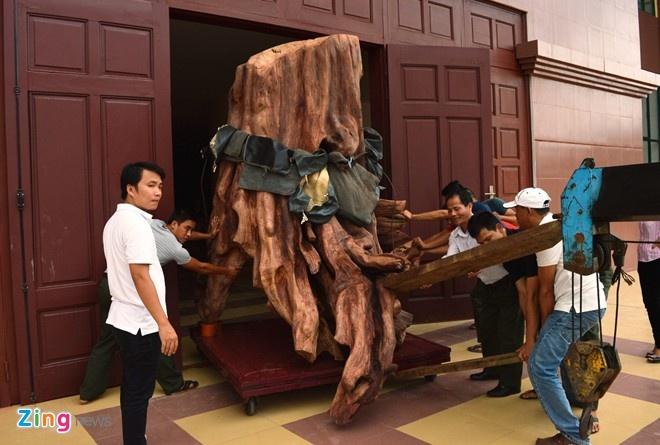 Nhung do vat lam tu go quy co gia bac ty nam 2014 hinh anh 2 2.Sau nhiều  tháng hoàn thiện xong các quá trình liên quan, đầu giờ chiều ngày 20/10, gốc sưa khủng đã được đưa vào Bảo tàng tổng hợp tỉnh Quảng Bình để trưng bày.