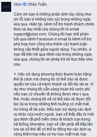 Uber gay tranh cai vi don phuong 'phat tien' khach non ra xe hinh anh 2