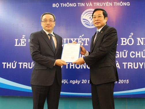 Thu truong Phan Tam phu trach linh vuc vien thong, Internet hinh anh 1