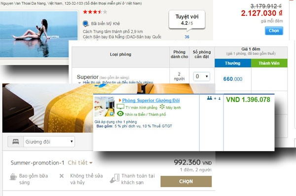 Manh lua dat khach san online: Tang gap doi, khuyen mai 50% hinh anh