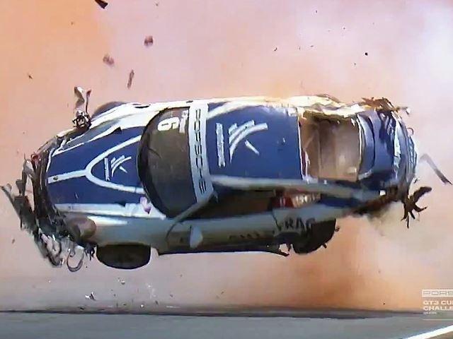 Sieu xe Porsche bay 9 vong trong vu tai nan hinh anh