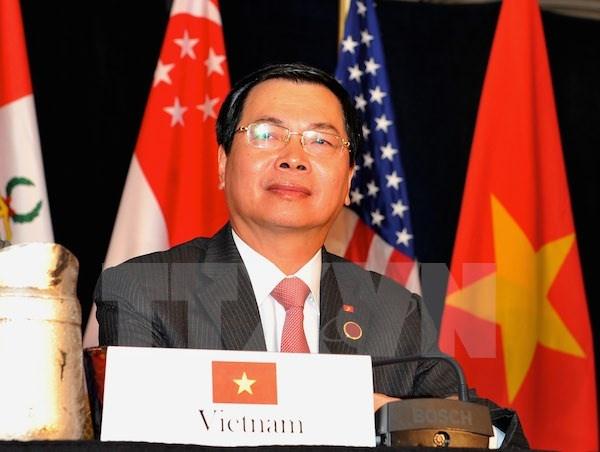 Bo truong Cong Thuong tra loi phong van ve hiep dinh TPP hinh anh 1 Bộ trưởng Bộ Công Thương Vũ Huy Hoàng tại Atlanta.