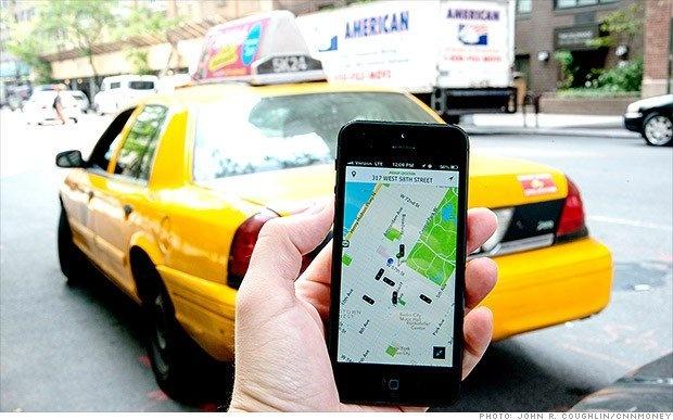 Bo nganh van cai nhau: Uber ung dung huong loi hinh anh