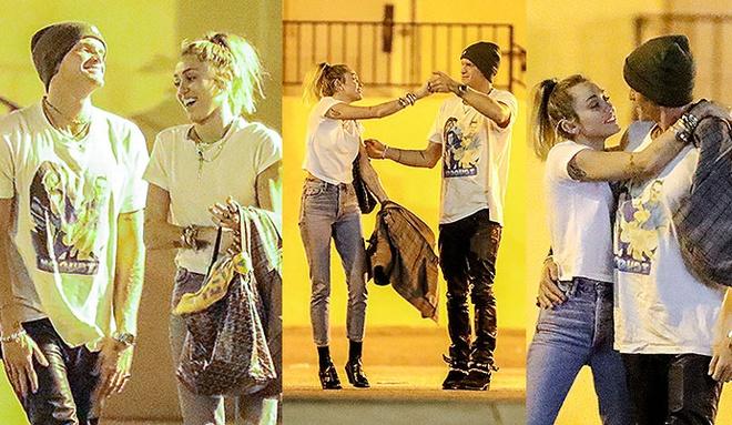 Miley Cyrus om hon ban trai kem tuoi tren pho hinh anh 1