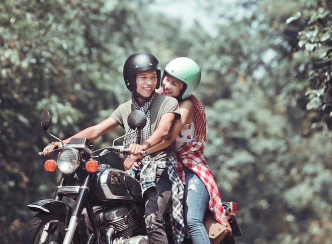 Những chuyến du lịch bụi khiến Toàn  và Hương gắn bó và hiểu nhau hơn.