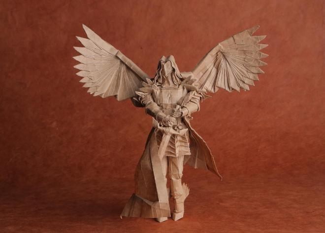 Thay giao co tai gap giay origami noi tieng tren mang hinh anh 2