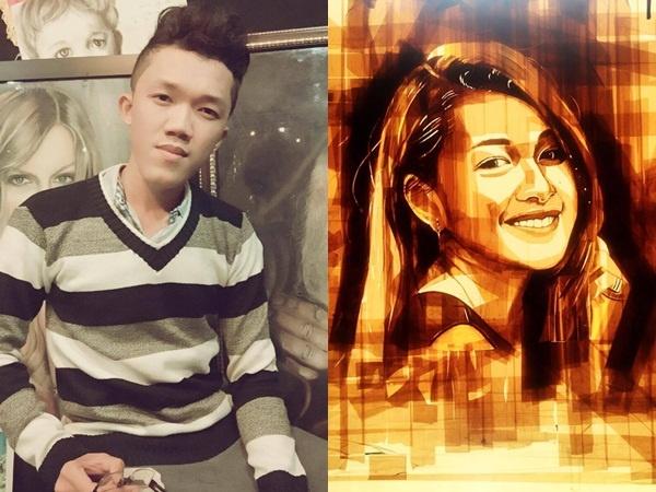 Chang trai 18 tuoi ve chan dung Chi Pu bang bang dinh hinh anh