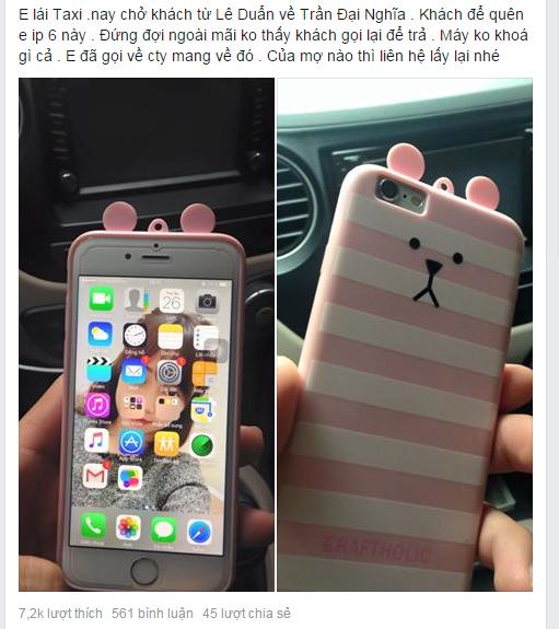 Chang trai lai taxi tra iPhone 6 cho khach de quen hinh anh 1