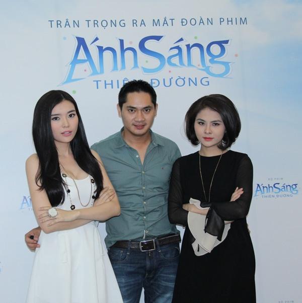 Van Trang lai dong vai ma mi, bi hiem hinh anh 3 Cao Thái Hà, Minh Luân và Vân Trang có một chuyện tình tay ba.