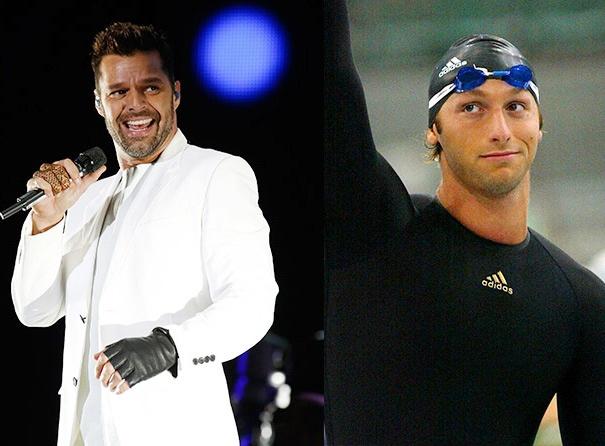Ricky Martin dinh tin don yeu VDV boi loi Ian Thorpe hinh anh