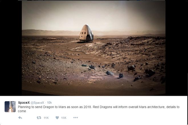 Elon Musk muon chinh phuc Hoa tinh nam 2018 hinh anh 1