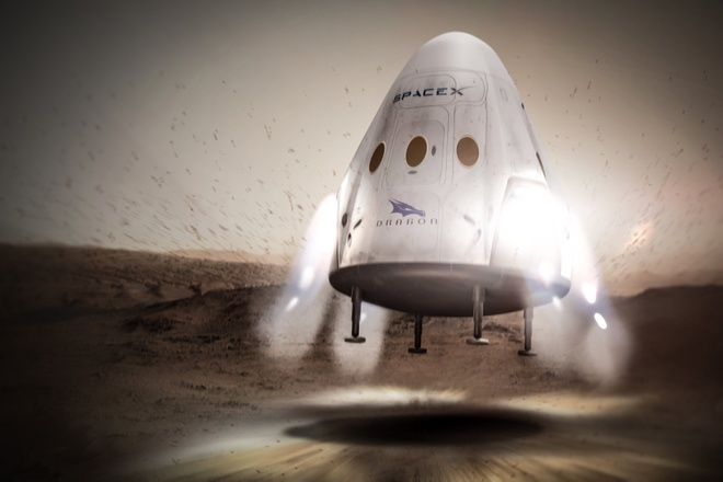 Ten lua cua Elon Musk ha canh o Hoa tinh ra sao? hinh anh