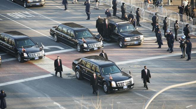 Doan xe ho tong Tong thong My Obama hinh anh