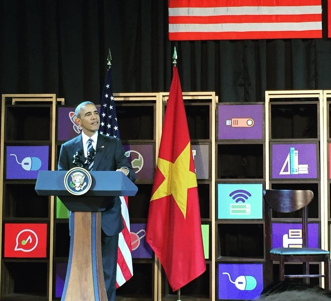 Anh, video duoc chia se nhieu ve chuyen tham VN cua Obama hinh anh 6