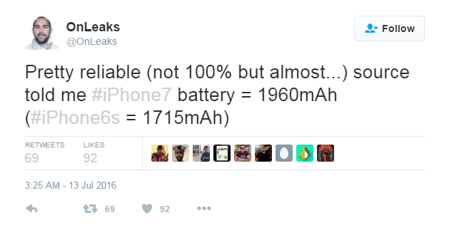 Pin tren iPhone 7 co dung luong 1.960 mAh hinh anh 1