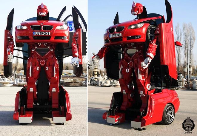 Xe BMW bien hinh Transformer nhu trong phim hinh anh 1