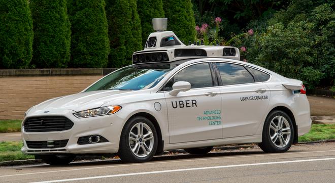 Xe Uber tu lai dau tien xuat hien hinh anh