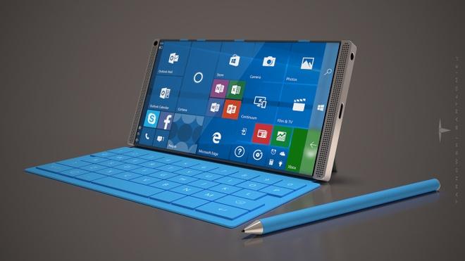 Y tuong Microsoft Surface Phone dung 4 loa, RAM 8 GB hinh anh 2