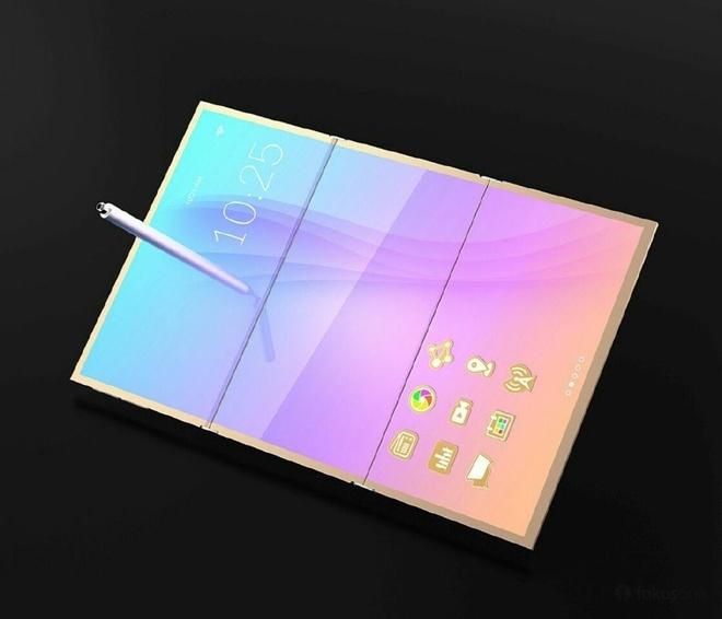 Smartphone Samsung la lam voi man hinh gap hinh anh 1