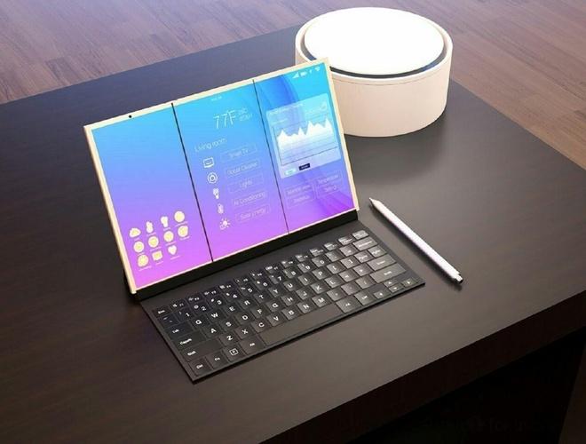 Smartphone Samsung la lam voi man hinh gap hinh anh 3