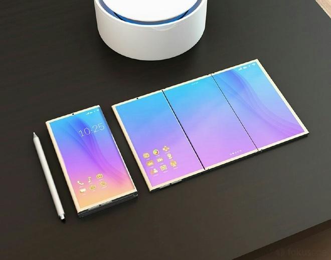 Smartphone Samsung la lam voi man hinh gap hinh anh 2