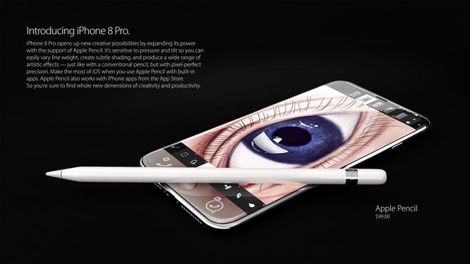 Thiet ke iPhone 8 voi Apple Pencil, cam bien mong mat hinh anh 3