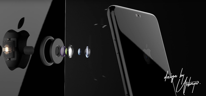 Y tuong iPhone 8 voi camera an trong logo Apple hinh anh 1