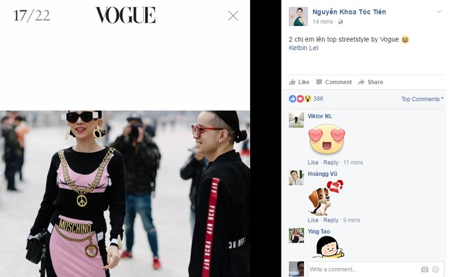 Toc Tien, Min xuat hien trong bo anh street style cua Vogue hinh anh 1