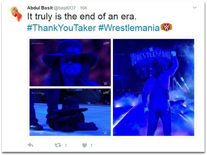 Huyen thoai WWE Undertaker giai nghe sau WrestleMania 33 hinh anh 2