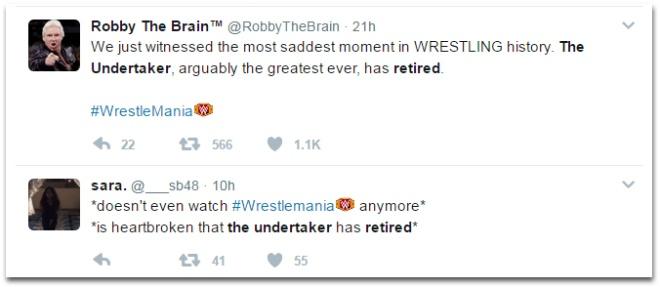 Huyen thoai WWE Undertaker giai nghe sau WrestleMania 33 hinh anh 3