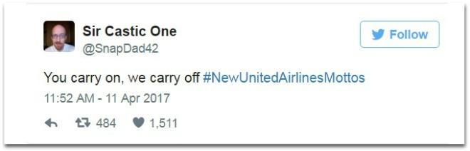 Cu dan mang mia mai United Airlines bang trao luu khau hieu che hinh anh 1
